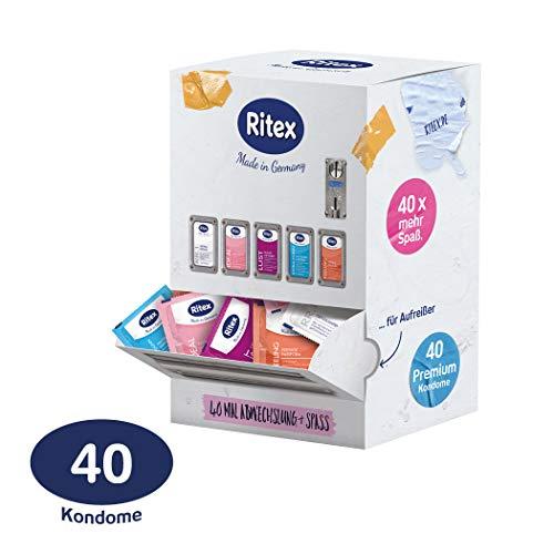 Ritex Kondom-Mix-Sortiment, Mehr Auswahl Und Mega-Spaß, 40 Stück, Made In Germany