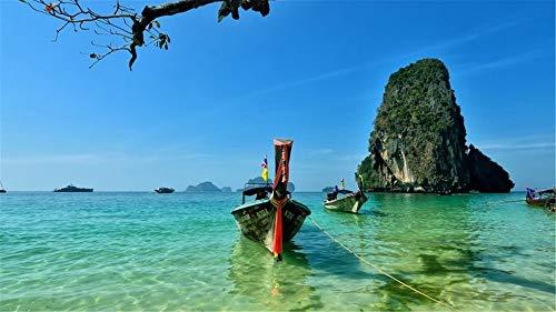 HCYEFG Puzzle Puzzle 1000Pezzi Railay Beach Thailandia Paesaggio Oceanico per Adulti Adulti Arte Fai da Te
