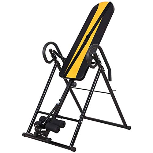 LQQ Gravity Heavy Duty Inversion Table Foldable Therapy Bench Back Stretcher Machine Indoor Inversion Equipment for Back Pain Home Inversion Chair