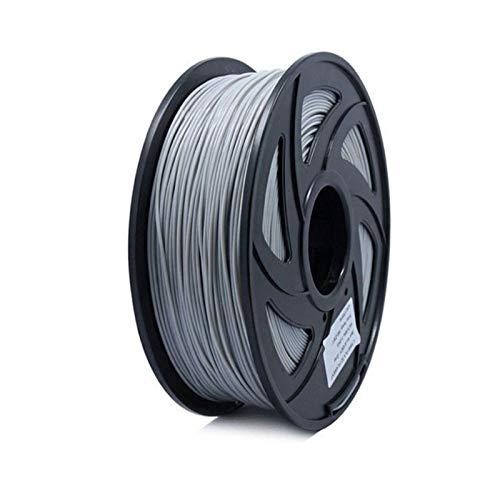 XBaofu 1PC 3D Filamento Filamento PLA 1,75 Multi-Colores de 1 kg de plástico Carretes filamento 1.75 Impresora 3D Impresora 3D Filamento Filamento (tamaño : Gris)