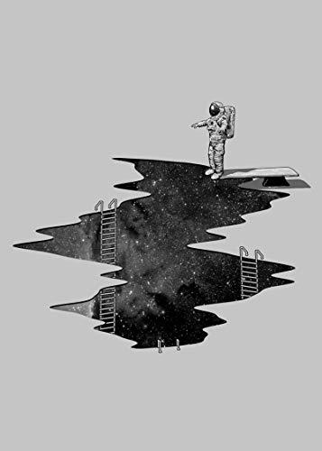 XUSG Leinwanddruck, Motiv: Weltraumtauchen, Wandkunst für Wohnzimmer und Schlafzimmer, ohne Rahmen und gerahmt, 50,8 x 76,2 cm, rahmenlos