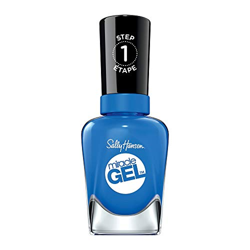 Sally Hansen Miracle Gel Nail Polish, Byte Blue, Pack of 1
