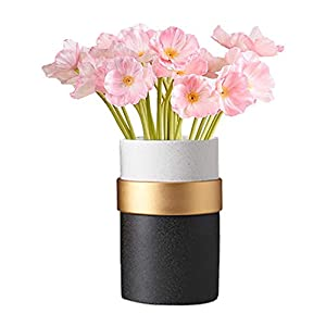 kaimimei Artificial Poppy Flowers Fake Flower Decorative Flower Real Touch 20 pcs Flower for Wedding Party Home Decoration(Pink)(vase not Include)