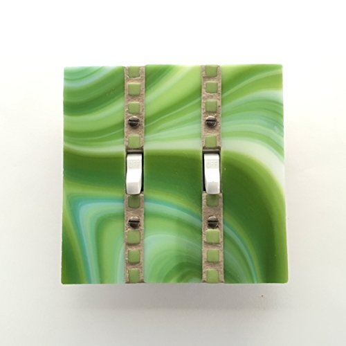 Green Switch Plate, Lime Green Light Switch Cover, Decorative Switchplate, Light Switch Plate, Double Toggle Switch, Wall Switch Cover, 8756