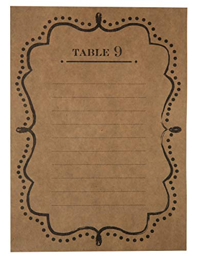 Plans de table numéroté de 1 à 10 (lot de 10)