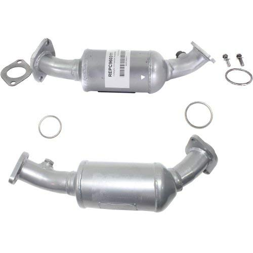 Evan Fischer Catalytic Converter Upstream Pair Compatible with 2004-2007 Cadillac CTS Base 46-State Legal Aluminized Steel Tube