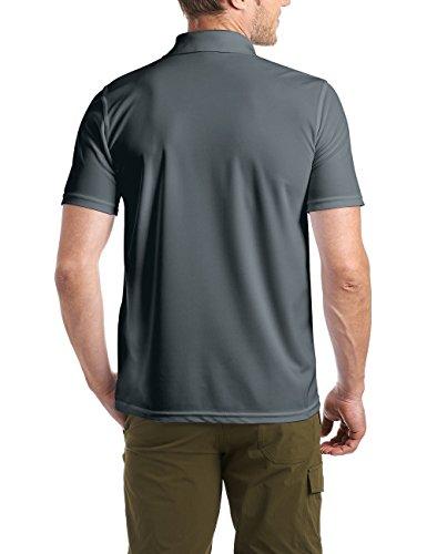 Maier Sports Herren Polo 1/2 Arm T-shirt, graphite, Gr. 3XL