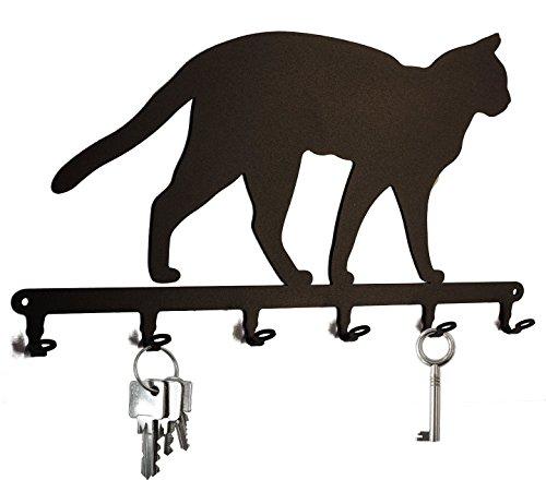 Crochets porte-clés * Siam Cat * - Chat Siamois - bande clé chat - 6 crochets - Tableau des clés...