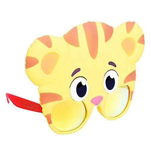 Sun-Staches Costume Sunglasses Daniel Tiger Party Favors UV400, Yellow, Orange, Red, Pink, 1