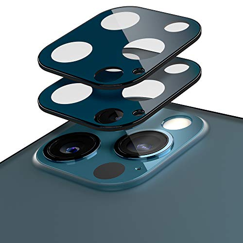 Caseology Lens Protector Compatible with iPhone 12 Pro Camera Lens Protector 2-Pack (2020) - Pacific Blue