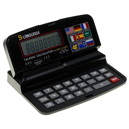 BVC 29337 - Calculadora Parlante (9 Idiomas) con Reloj y Despertador (12x8 cm)