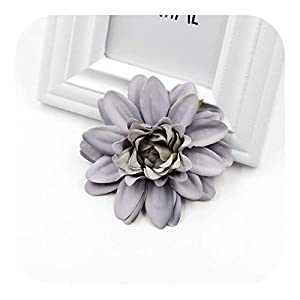 Onln 2pcs New Artificial Flower Silk Dahlia Daisy Forhome WeddingChristmas Decoration DIY Wreath Wall Scrapbook Gift Box-Gray blue-2pcs
