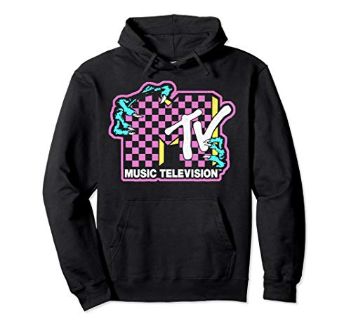Adults Official MTV Checkered Monster Hand Logo Hoodie, S to 2XL