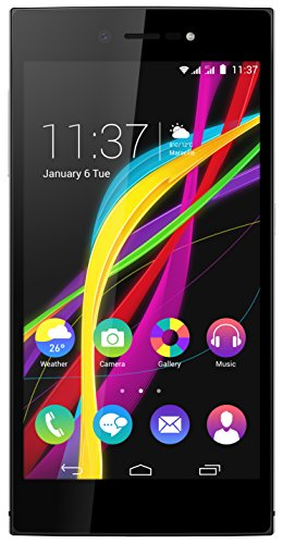 Wiko Highway Star 4G LTE Smartphone (12,7 cm (5 Zoll) AMOLED HD Display, Corning Gorilla Glass 3, 1,5GHz Octa-Core Prozessor, 13 Megapixel Kamera, 16GB Speicher, 2GB RAM, Android 4.4 KitKat) silber