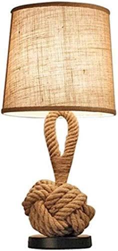 Diseño de Naturaleza Beige Lámpara de rocío Hermosa lámpara de Mesa de Cuerda ampen Lámpara de Cuerda Creativa Estudio de Personalidad Lámpara de cabecera Dormitorio Sala de Estar Lámpara de Mesa