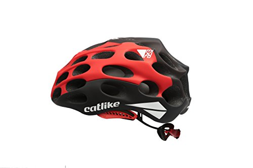 Catlike Mixino Casco de Ciclismo, Unisex Adulto, Negro/Rojo/Negro Mate, MD (55-57cm)