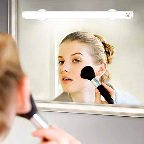 Wireless LED Makeup Mirror Lights, Portable Vanity Mirror Lights | Simulated Daylight | 4 Brightness Level Touch Control | Rechargeable , Makeup Lights