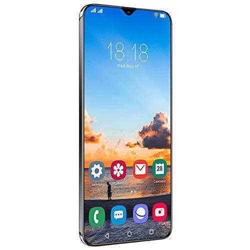 Smartphone (2021) 5G 6.7HD + Taupunktanzeige, 6800-mAh-Akku, 4 GB RAM + 64 GB Android 11, Gesichtserkennung, Fingerabdruckerkennung, GPS,Black