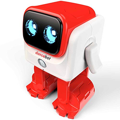 ECHEERS Kids Toys Dancing Robot for Boys and Girls, Educational Dancing Robot Toys for Kids with Stereo Bluetooth Speakers, Rechargeable Dance Robot Follow Music Beats Rhythm, All Age Children - Red