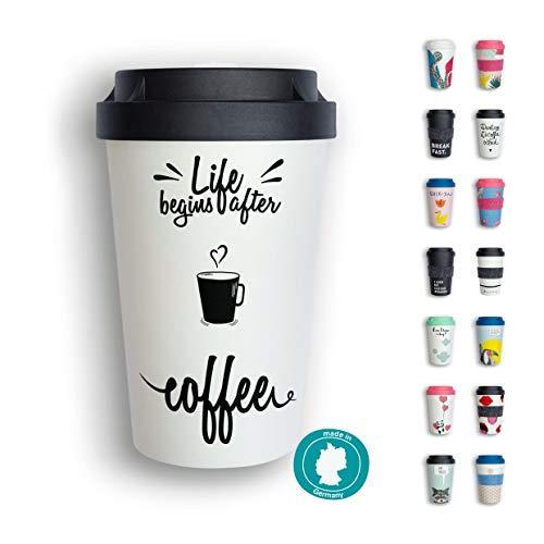 heybico Coffee to go Becher Made in Germany   Frei von Melamin & ohne Bambusfasern   Biologisch abbaubar & kompostierbar (After Coffee)