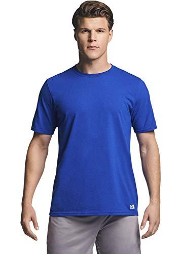 Russell Athletic mens Performance Cotton Short Sleeve T-Shirt, royal, XXL