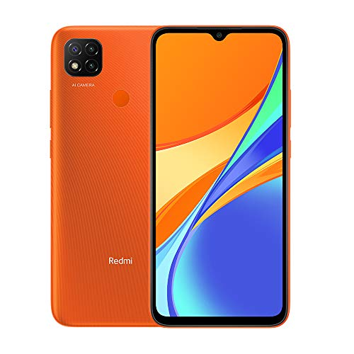Xiaomi Redmi 9C Smartphone 3GB 64GB 6.53' HD+ Dot Drop Display 5000mAh (typ) Desbloqueo Facial con IA 13 MP AI Triple Cámara Naranja