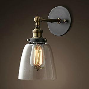 Lixada Lámparas Apliques de Pared Luces Clásicas Iluminación Vendimia Retro Rústico para E27 Bombilla Escalera…