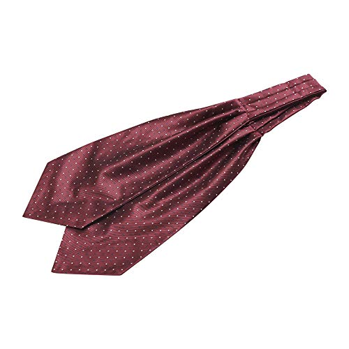 Allegra K Corbata De Moño Con Lunares Corbata De Ascot Corbata De Fiesta Formal Para Hombre Vino Tinto Blanco Talla única
