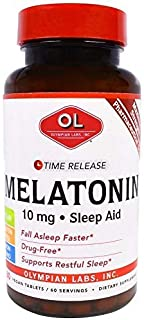 Olympian Labs Inc, Melatonin, Time Release, 10 mg, 60 Veggie Tablets