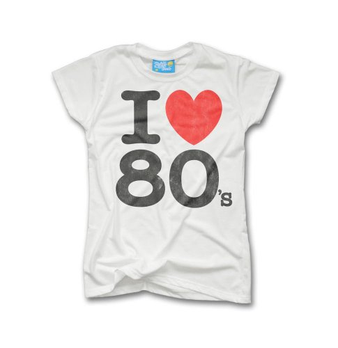 Classic I Loveheart the 80s Ladies T-shirt