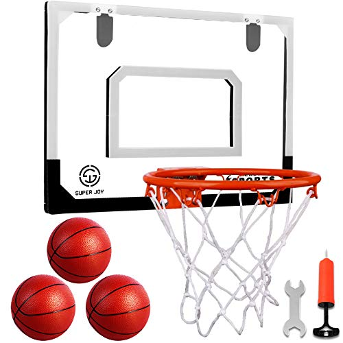 Indoor Mini Basketball Hoop Set with 3 Balls for Kids and Adults - Pro...
