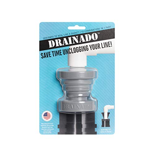 DRAINADO unclog A/C drain lines with this 15-in-1 Vacuum Hose to Pvc Pipe Adapter