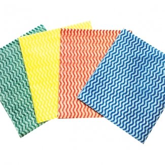 100 Blue Coloured Coded Cleaning Clothes - Bodyguards Best Price Lightweight Colour...