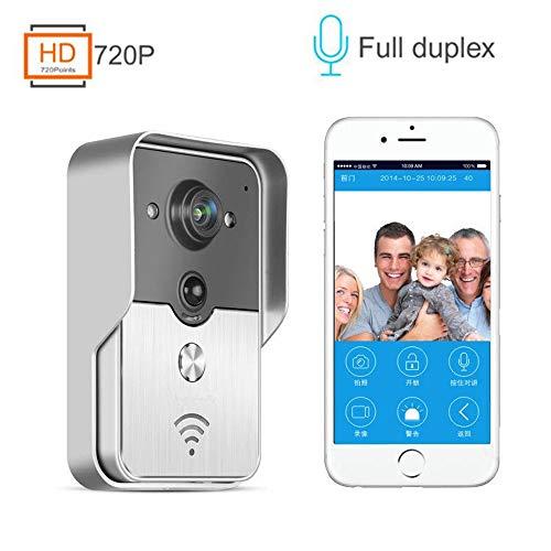 Mengen88 Wifi video deurbel, ultra low power home alarm intelligente draadloze video intercom deurbel mobiele telefoon remote video voor binnen en buiten