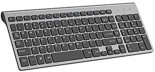 Wireless Keyboard, J JOYACCESS 2.4G Slim and Compact Wireless Keyboard-Black and Grey