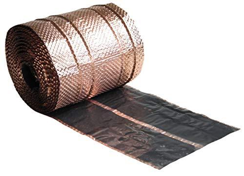 1PLUS Dach-Kupferband IMPACT, Dachschutz mit 4 Längssicken , 5 m Rolle