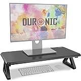 Duronic DM06-1 Elevador para Pantalla, Ordenador Portátil, Televisor, Mesa Gamer, TV, PC, Portátil - 63 x 30 cm- Metacrilato Negro – hasta 10 kg