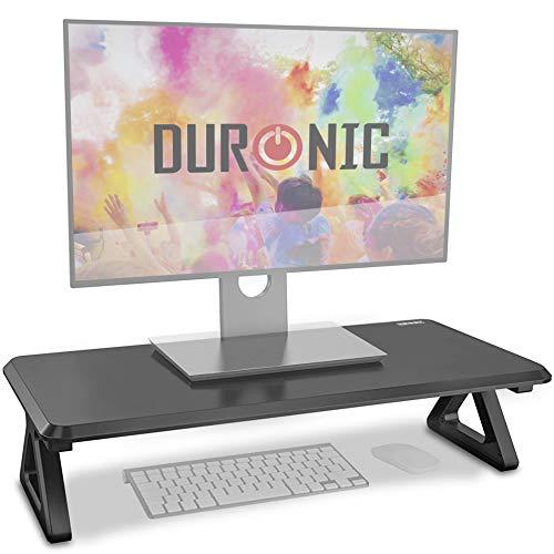 Duronic DM06-1 Supporto Monitor scrivania Supporto da Tavolo per Monitor Schermo Laptop Altezza 15cm Piattaforma 62x30 cm Portata 10kg