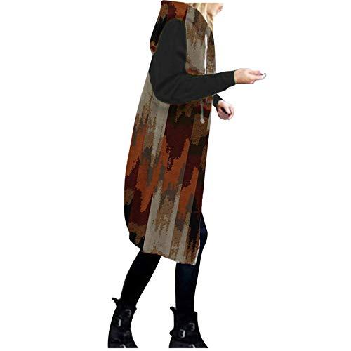 Dwevkeful Damen Übergangsjacke Mode Softshelljacke Angenehm Herbstjacke Leicht Gemütliche Wintermantel Passt Winterjacke Langarm College Jacke Oversized Jacke Kapuzenjacke Jacke Mantel Outwear