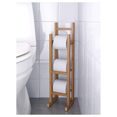 IKEA RÅGRUND Toilettenpapierständer 15x16x60 cm Bambus