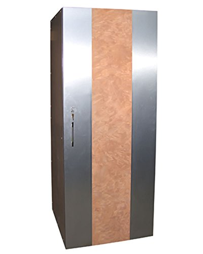 Aspen 250-Model Wine Cabinet with Exotic Wood and Brushed Aluminum Exterior by Vinotemp