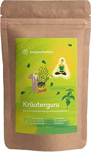 BIO Kräuterguru | basischer BIO Kräutertee mit Brennnesselblättern Lemongras und Minze von teegeschwister | 80g