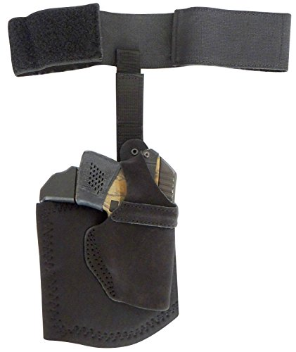 DTOM AH8 Ultimate Comfort Suede Leather and Neoprene Ankle Holster for The Ruger LCP, KelTec P3AT, and P32 Includes Support Strap!