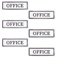 NUOBESTY 6ピースオフィス自己接着サインオフィスサインステッカードアオフィスレターステッカーオフィスドアステッカーデカール用学校会社