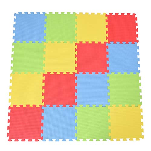 """16Pcs Kids Foam Puzzle Floor Exercise Play Mat with EVA Foam Solid Colors,12x12"""", Home Other, Home & Garden, Furniture, Shipping from USA"""
