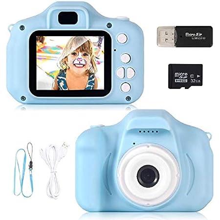 """ZStarlite Cámara Digital para Niños, 1080P 2.0""""HD Selfie Video Cámara Infantil, Regalos Ideales para Niños Niñas de 3-10 Años, con Tarjeta TF 32 GB, Lector de Tarjetas (Azul)"""