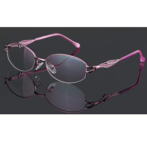 ZTM Lezen Bril Metaal Half Frame Lezen Bril, Overgang Fotochrome Progressieve Lens - voor Zonnebrillen voor Mannen/Vrouwen