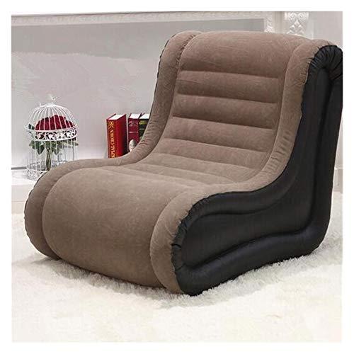 Withou Leichter aufblasbarer Sitzsackstuhl, L-förmiges faules Sofa, faltbar, leicht zu tragen und zu speichern, super luxuriöser Freizeitfilmstuhl, dick, weich und rutschfest