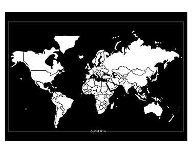 Globespin Mapamundi rascar, mapamundi rascador (Scratch Off Map) – Diseño Minimalista Póster, 84 x 59 cm