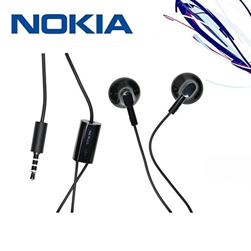 Auricolari stereo, Nokia WH-108,jack 3,5mm, colore: nero